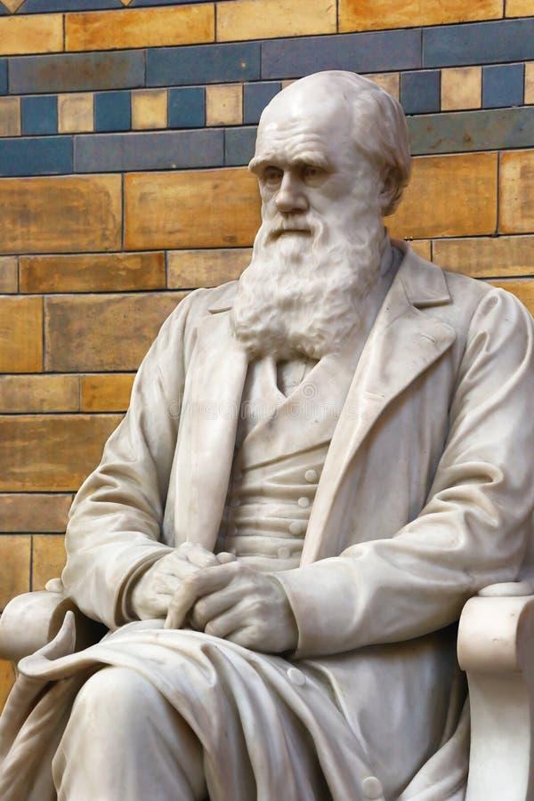 charles statua Darwin zdjęcie stock