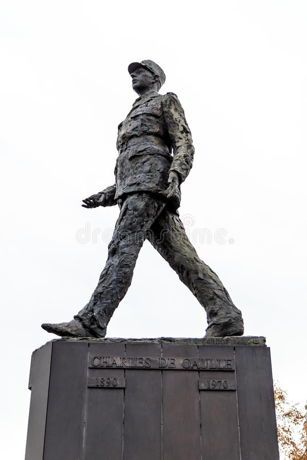 charles statua De Gaulle fotografia stock