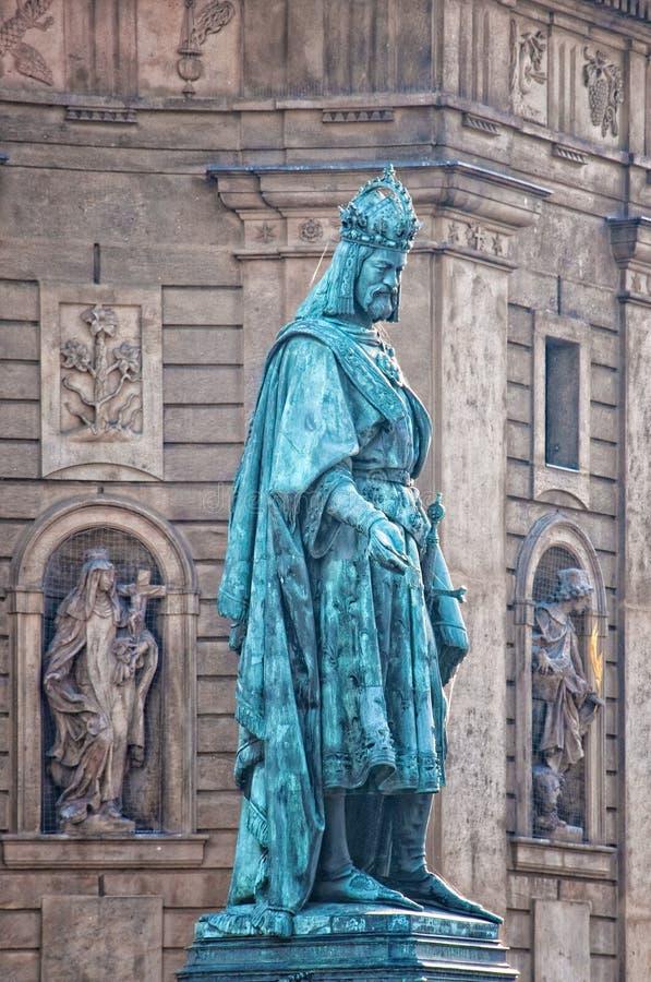 Charles-Statue in Prag lizenzfreie stockbilder