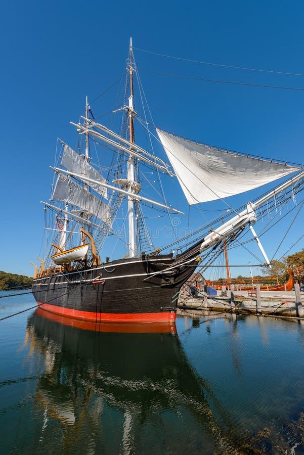 Charles W Morgan Wooden Whaleship lizenzfreie stockfotografie