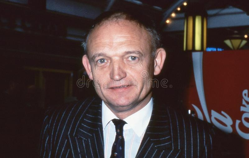Charles Wilson. Editor of The Times newspaper, attends the Conservative party conference in Blackpool, England on October 10, 1989 royalty free stock photography