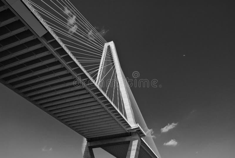 Charleston bridge coopera rzeki obraz royalty free