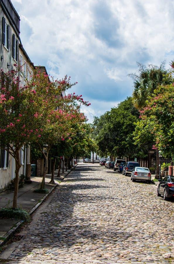 Charleston brukowa ulicy zaproszenie zdjęcie stock