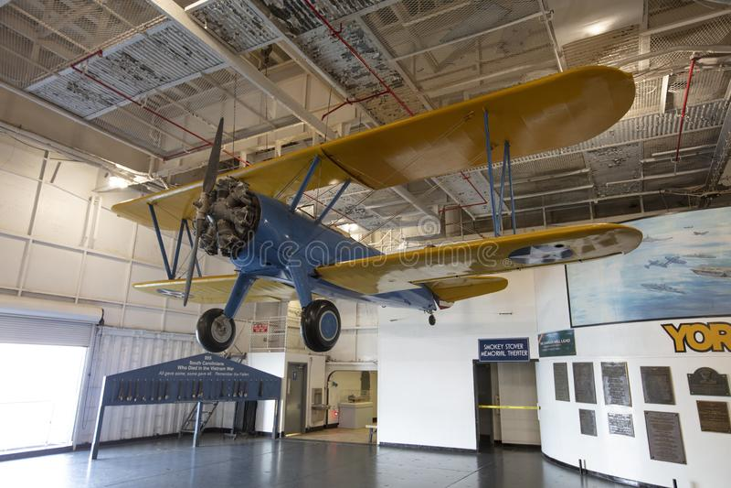 Charleston, Carolina del Sur, Estados Unidos, noviembre de 2019, un Stearman Boeing en el pueblo de Moscú imágenes de archivo libres de regalías
