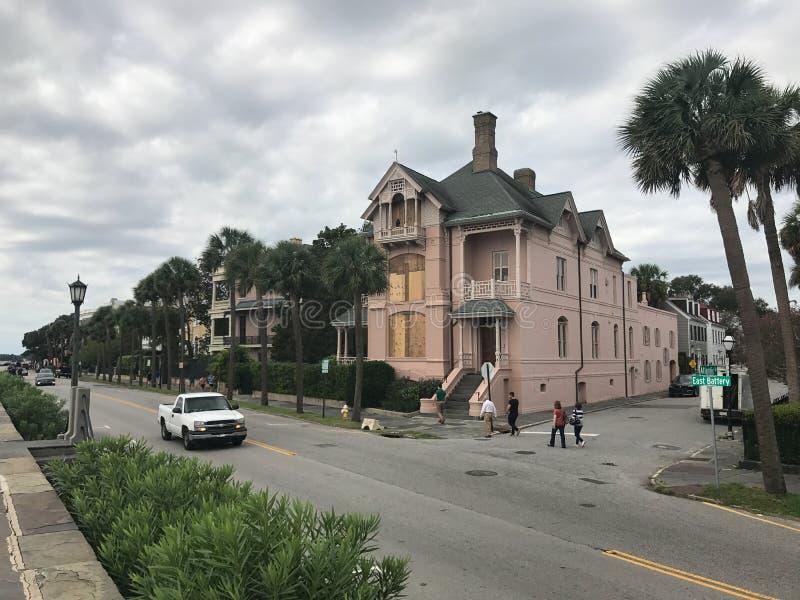 Charleston, Carolina del Sur se prepara para el huracán Irma imagenes de archivo