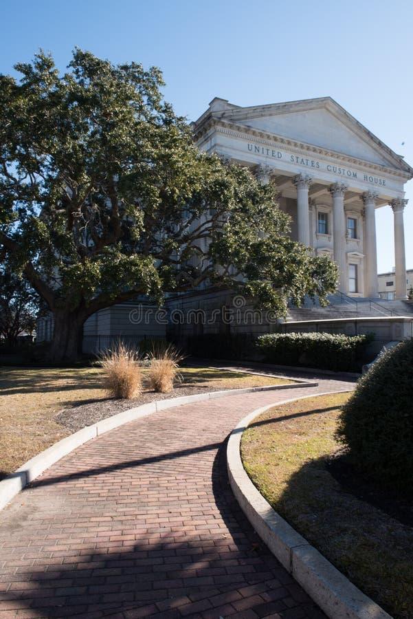 Charleston, Carolina United States Custom House del nord immagine stock libera da diritti