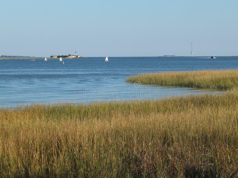 Charleston Harbour arkivbilder