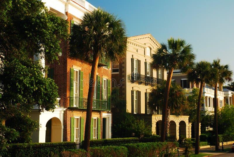 Charleston Homes op East Battery royalty-vrije stock fotografie