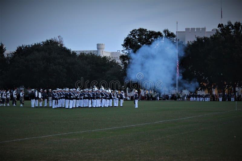 Charleston, la Caroline du Sud/Etats-Unis - 10 novembre 2018 : La citadelle est un site historique photo libre de droits