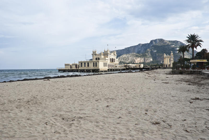 Download Charleston Of Mondello On The Beach.Palermo Stock Image - Image: 23095379