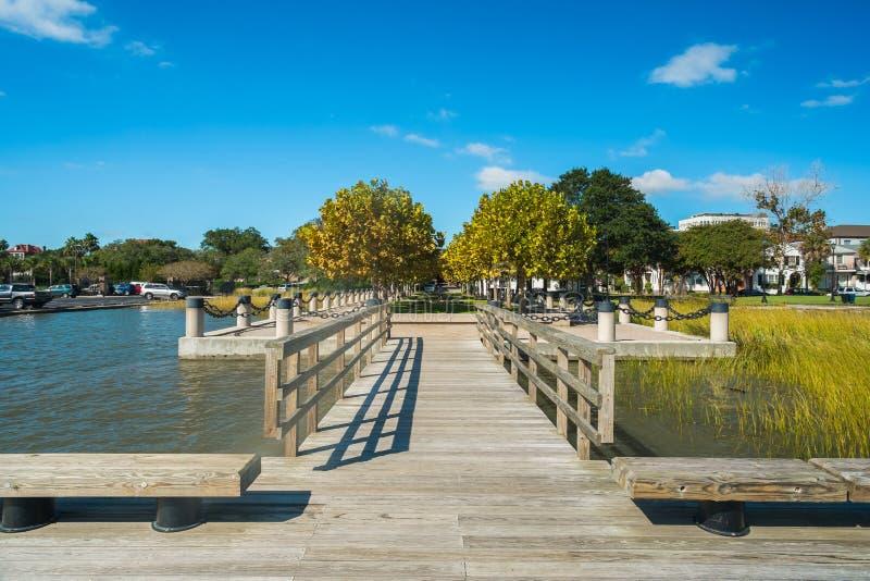 Charleston park stock image