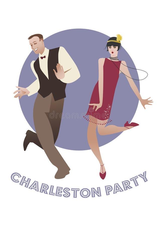 Charleston Party färg stock illustrationer