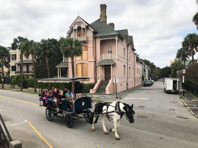 Charleston Prepares para un huracán fotos de archivo