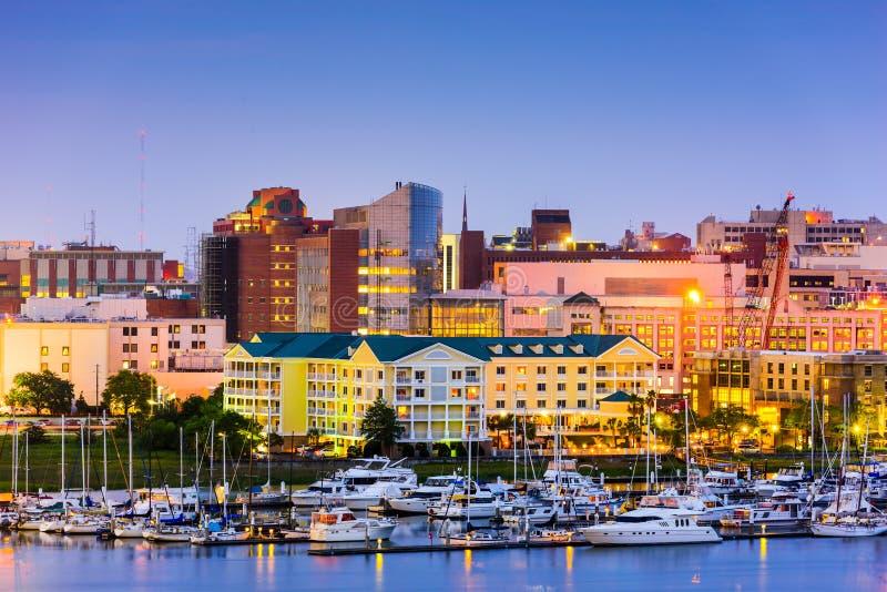 Charleston södra Carolina Cityscape royaltyfri bild