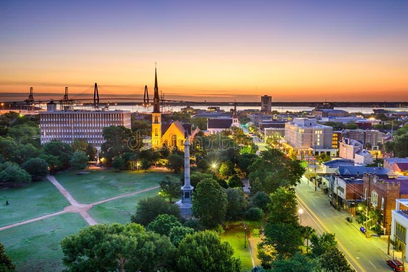 Charleston södra Carolina Skyline arkivfoton