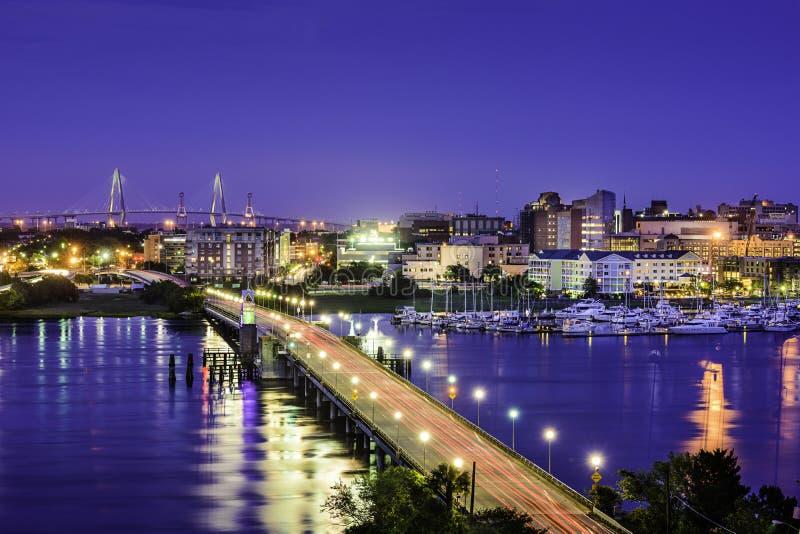 Charleston södra Carolina Skyline arkivfoto