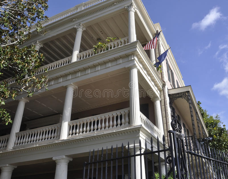 Charleston SC,August 7th:Historic Colonial House from Charleston in South Carolina. Historic Colonial House from Charleston in South Carolina on August 7th 2016 stock photography