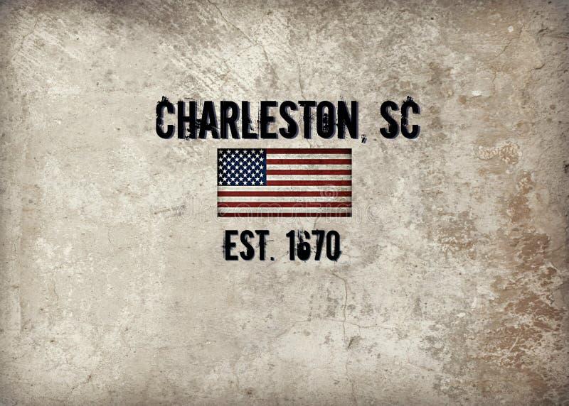 Charleston, Sc illustration de vecteur