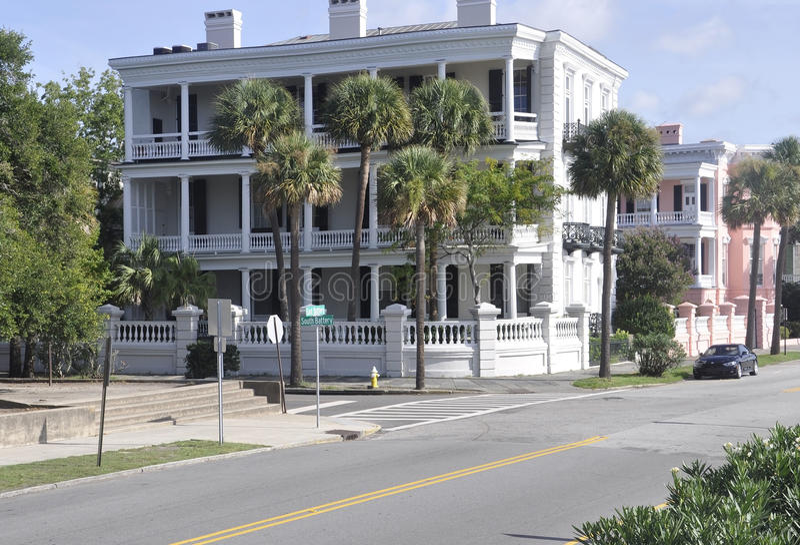 Charleston SC, Sierpień 7th: Historyczny dom od Charleston w Południowa Karolina obrazy stock