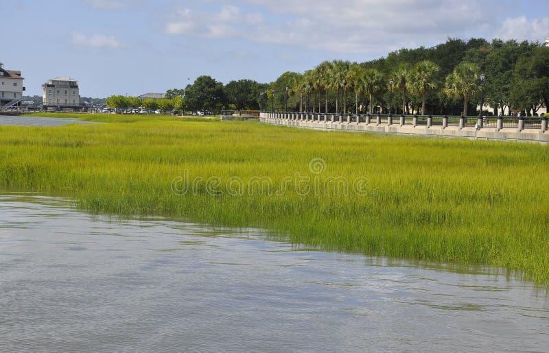 Charleston SC, Sierpień 7th: Jachtingowy schronienie od Charleston w Południowa Karolina zdjęcia royalty free