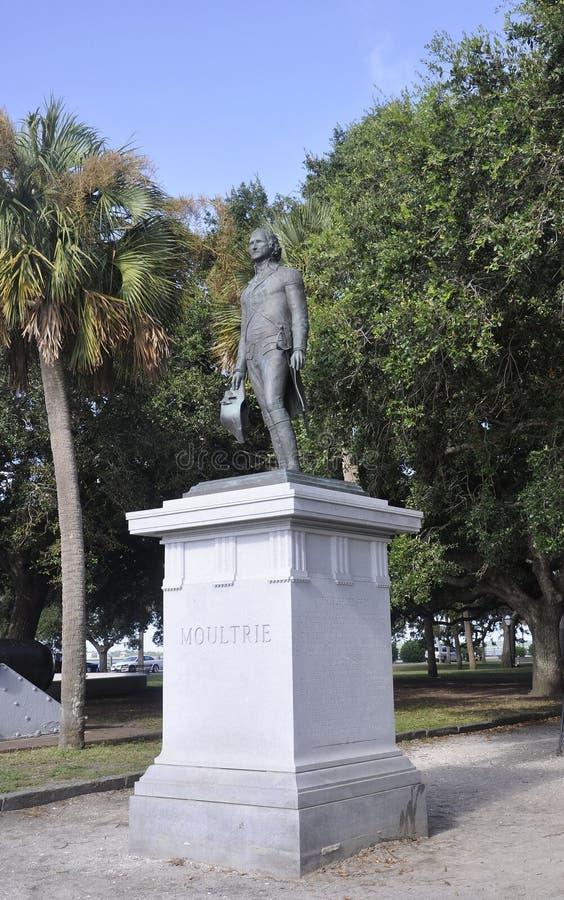 Charleston SC, Sierpień 7th: Moultrie zabytek od Charleston w Południowa Karolina obraz royalty free