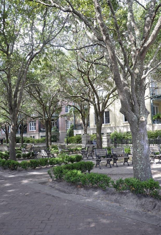 Charleston SC, Sierpień 7th: Nabrzeże park od Charleston w Południowa Karolina obrazy royalty free