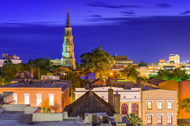 Charleston Skyline lizenzfreies stockfoto