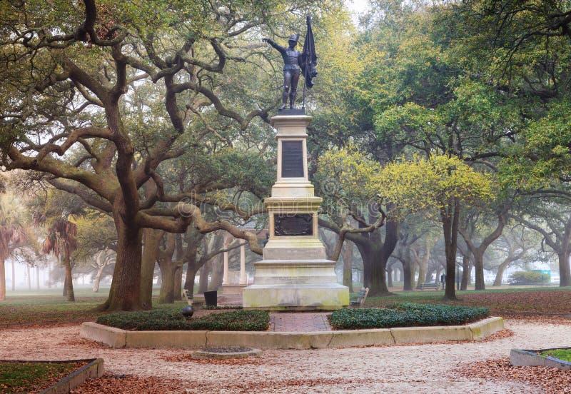 Charleston South Carolina Battery Park stockfotos