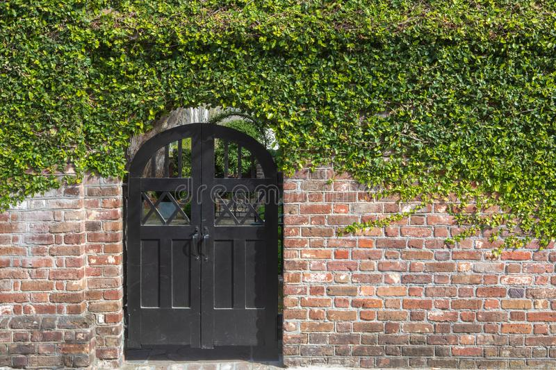 Charleston South Carolina Courtyard Entrance fotografia de stock