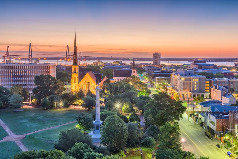 Charleston South Carolina, USA Cityscape royaltyfria bilder