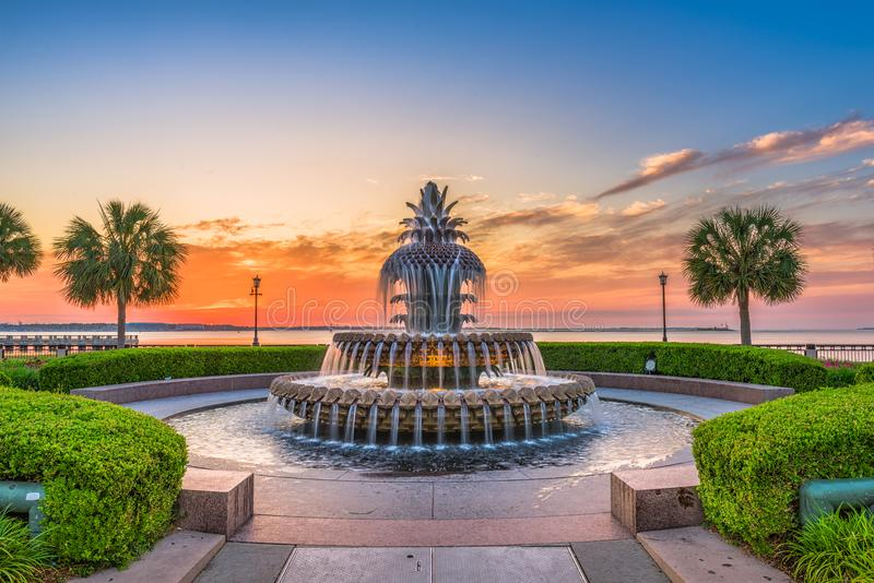 Charleston South Carolina, USA springbrunn arkivfoto