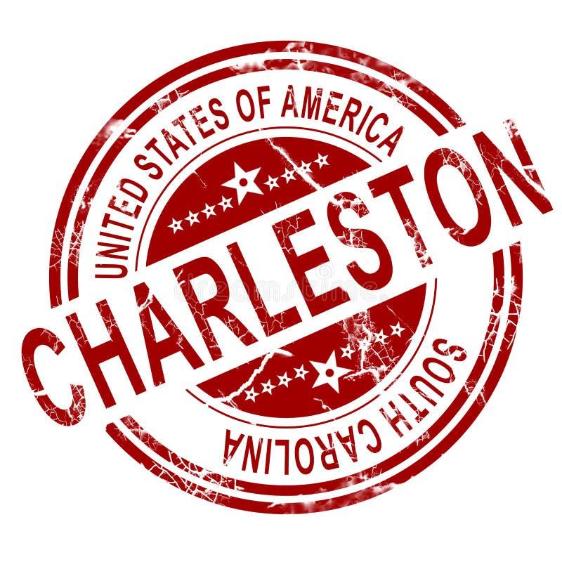 Charleston South Carolina-zegel met witte achtergrond vector illustratie
