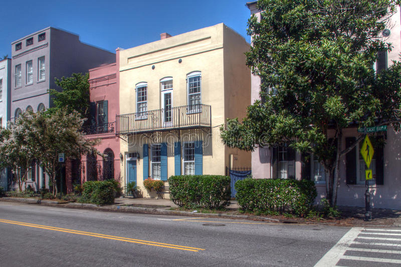 Charleston Street House Fronts photos stock
