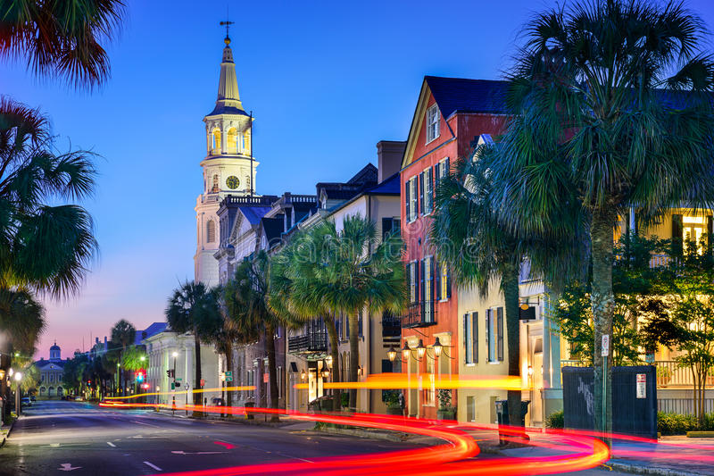 Charleston Townscape imagen de archivo
