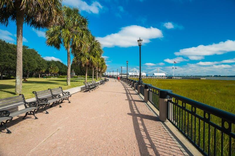 Charlestonen parkerar royaltyfri fotografi