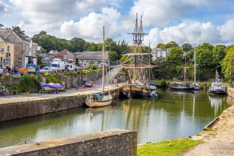 Charlestown Cornwall. Cornwall, south coast stock photography