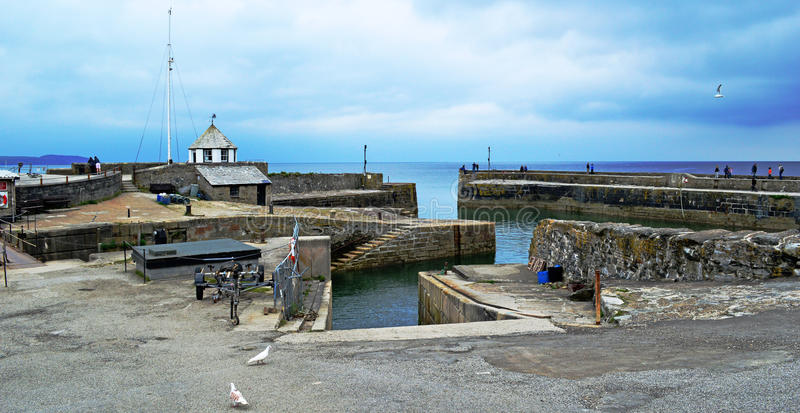 Charlestown harbour. Picturesque Charlestown Fishing Village near St Austell Cornwall royalty free stock images