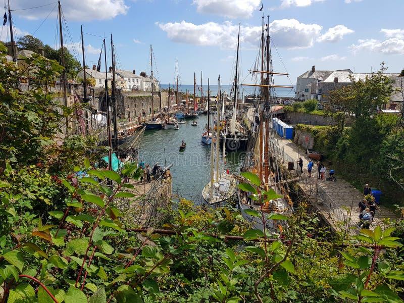 Charlestown is a village and port on the south coast of Cornwall, United Kingdom. Tallships, poldark, poldark-filmset, sailing, old-ships, navy, hornblower stock image