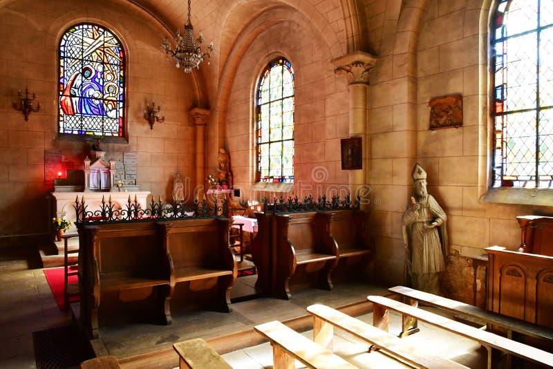 Charleval, Франция - 7-ое сентября 2016: Церковь St Denis стоковое изображение rf