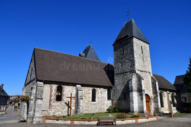Charleval Francja, Wrzesień, - 7 2016: Świętego Denis kościół obrazy stock