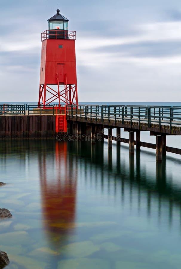 Charlevoix latarni morskiej odbicie zdjęcia stock