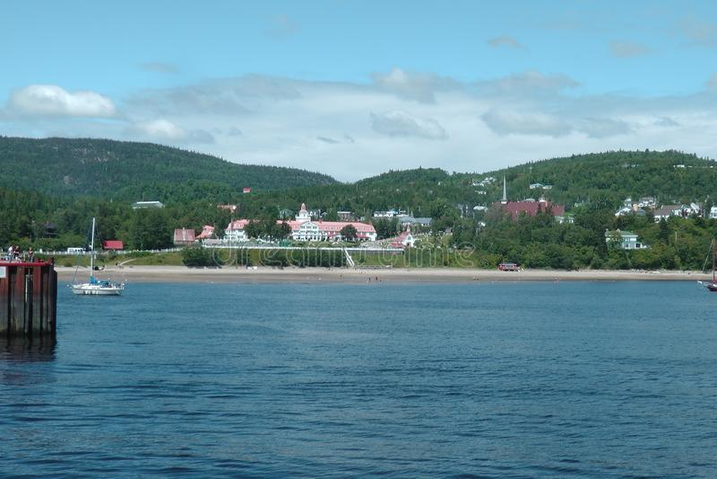 Charlevoix, Quebec, dal fiume San Lorenzo immagine stock
