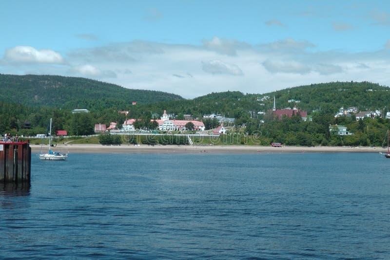 Charlevoix, Quebec, vom St Lawrence River stockbild
