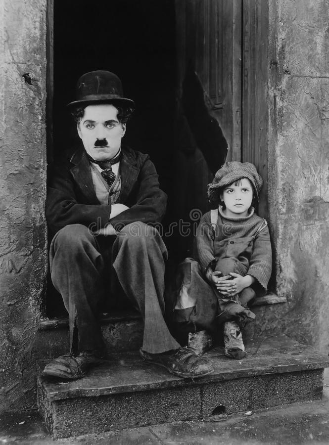 Charlie Chaplin And Boy Free Public Domain Cc0 Image