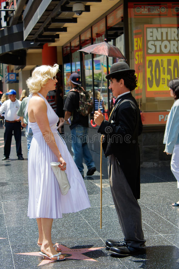Charlie Chaplin e Marilyn Monroe fotografia stock libera da diritti