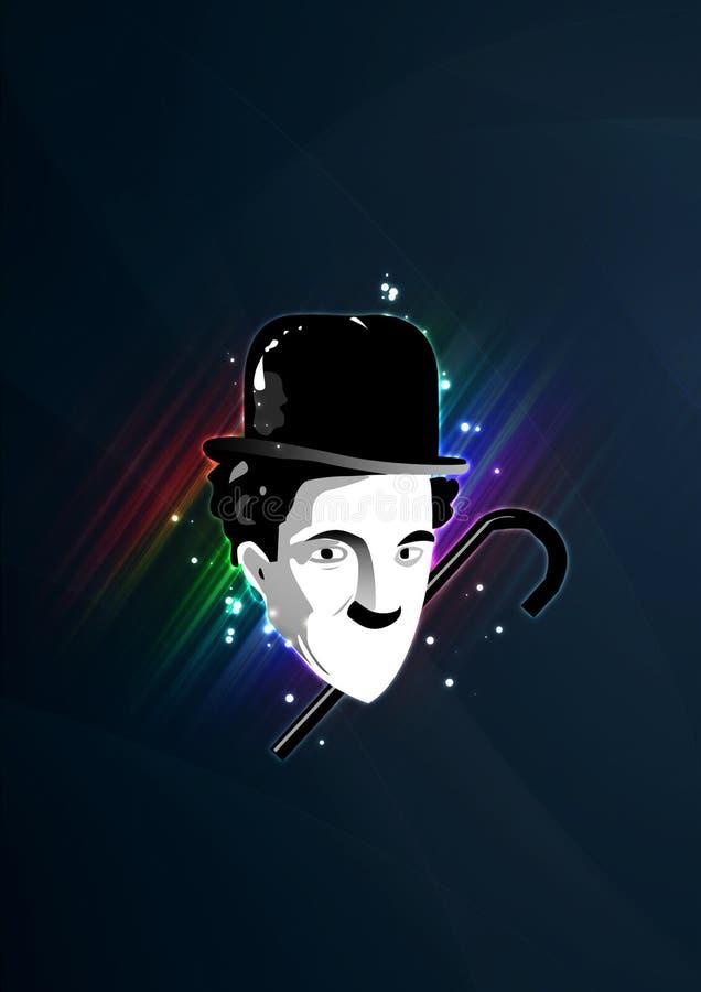 Charlie Chaplin Glamour Poster royalty-vrije stock foto's