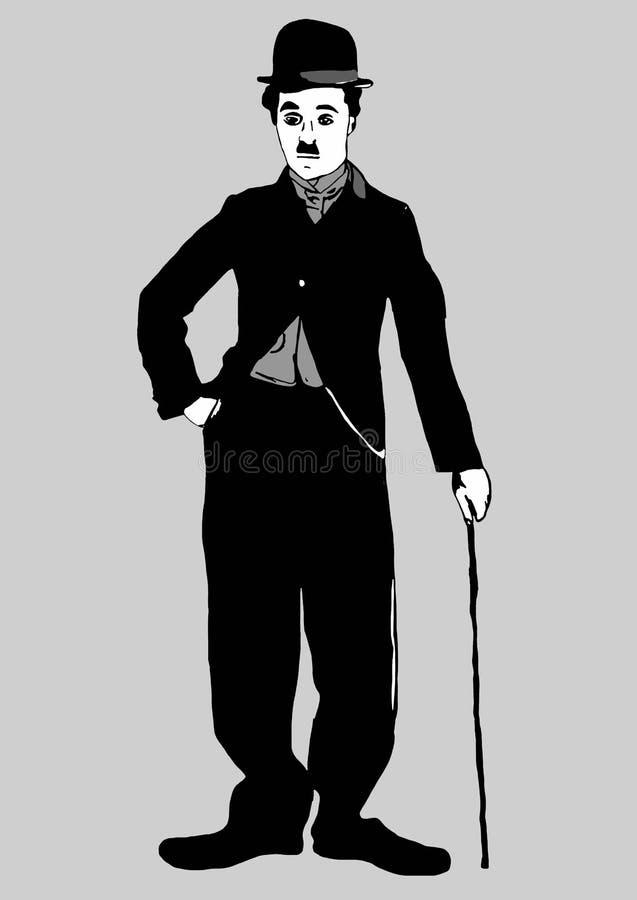 Charlie Chaplin. Image of famous actor Charlie Chaplin