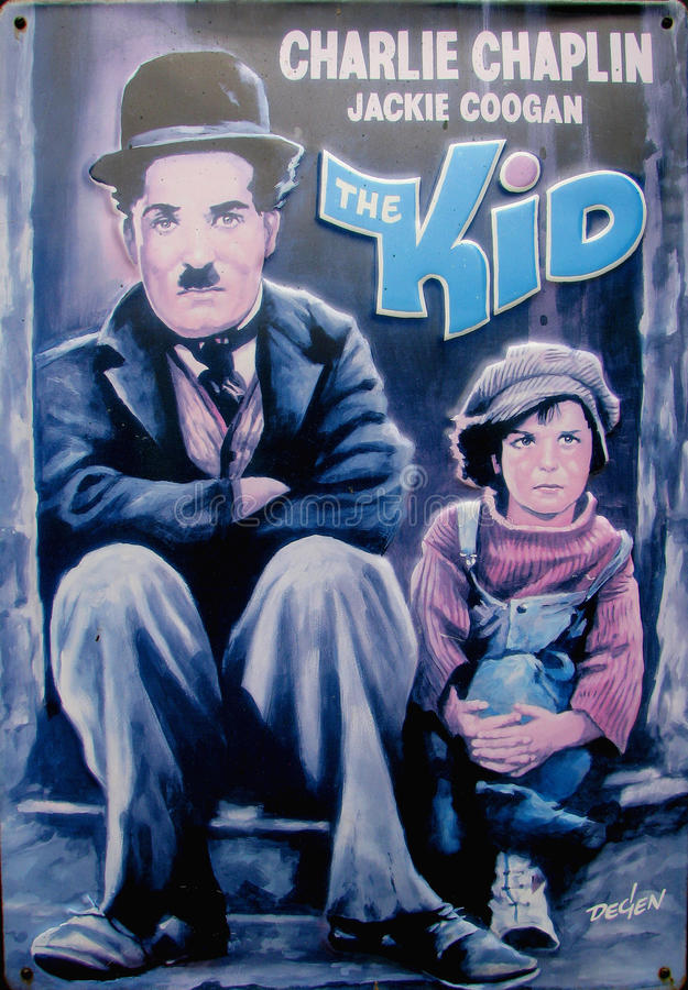 Charlie chaplin - the kid royalty free stock photography