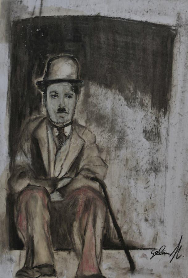 Charlie Chaplin kreda zdjęcia royalty free