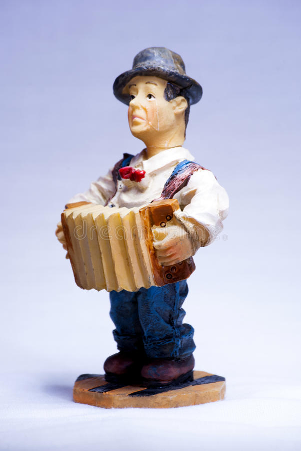 Download Charlie Chaplin Musician Souvenir With Accordion Stock Image - Image: 83709819